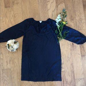 J crew silky blue shift dress; size 12